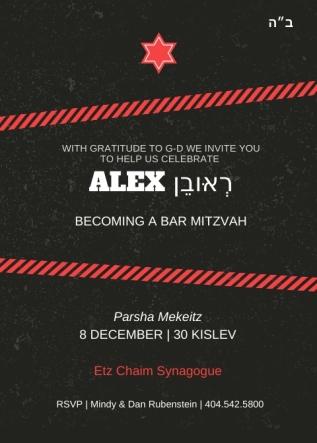 Alex's Bar Mitzvah